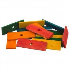 Zoo-Max - Plaquettes de Bois Colorée et Perforées - 17 pièces
