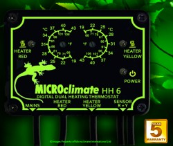 """Thermostat Reptile MICROCLIMATE """"Double"""" HH6"""