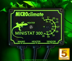 """Thermostat Reptile MICROCLIMATE """"On/Off"""" Ministat 300 - 300 W"""