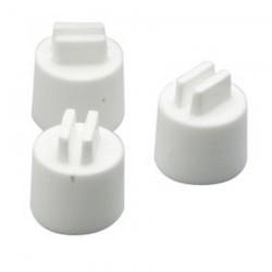 Embout en Plastique Blanc pour Perchoir Bois ou Plastique - Diamètre 12 mm