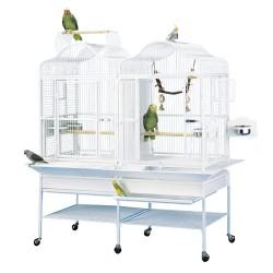 Cage Perroquet Double KING'S CAGES - Modèle 208 Blanc