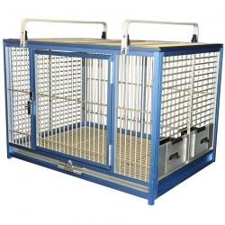 Cage de Transport Perroquet en Aluminium - KING'S CAGES TC05