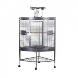 Cage d'Angle pour Perruches et Perroquets Corner Cage
