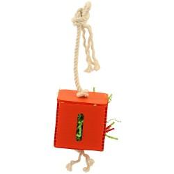 Zoo-Max - Crinkle Paper Cube Medium - Jouet Perruche