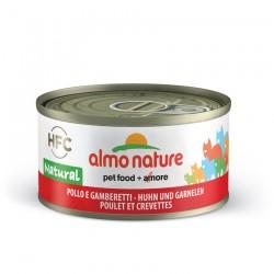 Almo Nature - Pâtée HFC Natural au Poulet et Crevettes pour Chat - 70 gr