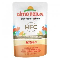 Almo Nature - HFC Sachet de Pâtée Cuisinée au Poulet pour Chaton - 55 gr