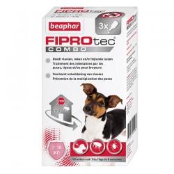 Fiprotec Combo - Pipettes Anti Puces et Anti Tiques pour Petits Chiens - 3 pipettes