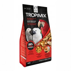 Tropimix Perroquets 1,8 kg - Mélange de Graines, Granulés et Fruits sans Déchets pour Perroquets