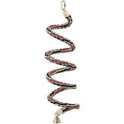 Spirale en Corde de Coton Bouncing Medium - Jouet Perroquet