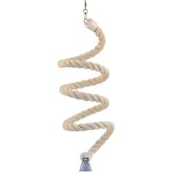 Spirale en Corde de Sisal - Medium - Jouet Perroquet