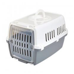 Savic - Cage de Transport pour Chat et Animaux Zephos 1 - Blanc et Gris Froid