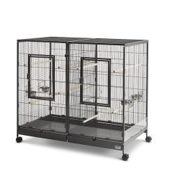 Savic - Cage Oiseaux - Tasmania 120 Noir Martelé