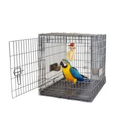 Cage de Transport Carry Me Large pour Perroquet - Couleur Anthracite