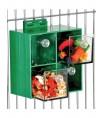 Jouet de Foraging Four Big Drawers - Distributeur Alimentaire pour Perroquets