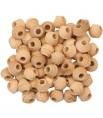 Perles en Bois Non Colorées 60 pièces - Pièces de Jouet pour Oiseaux